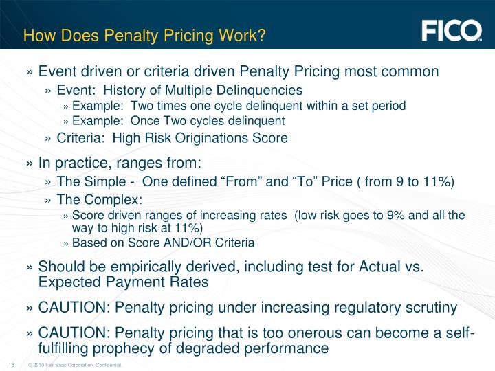 How Does Penalty Pricing Work?