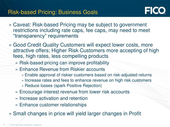 Risk-based Pricing: