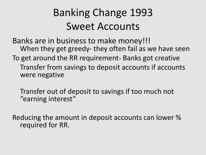 Banking Change 1993