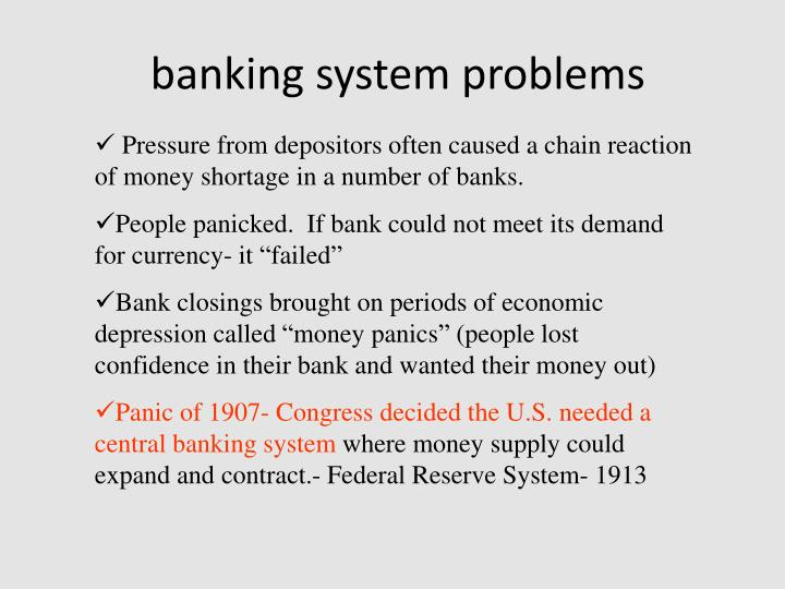 banking system problems