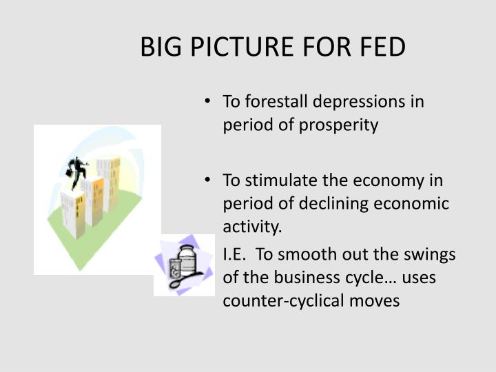 BIG PICTURE FOR FED