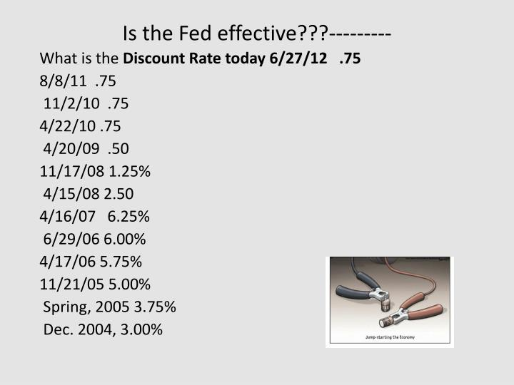 Is the Fed effective???---------