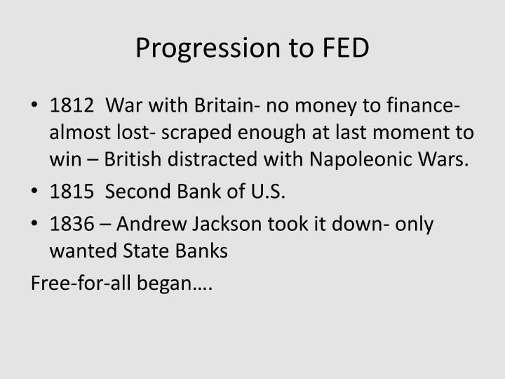 Progression to FED