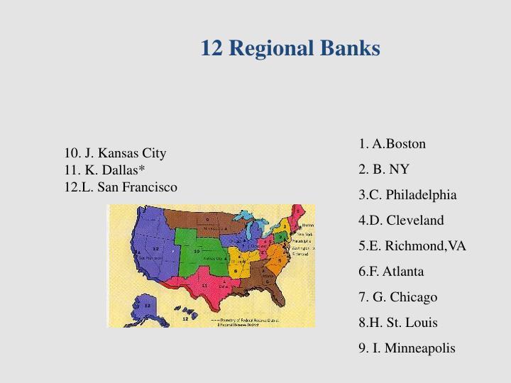12 Regional Banks