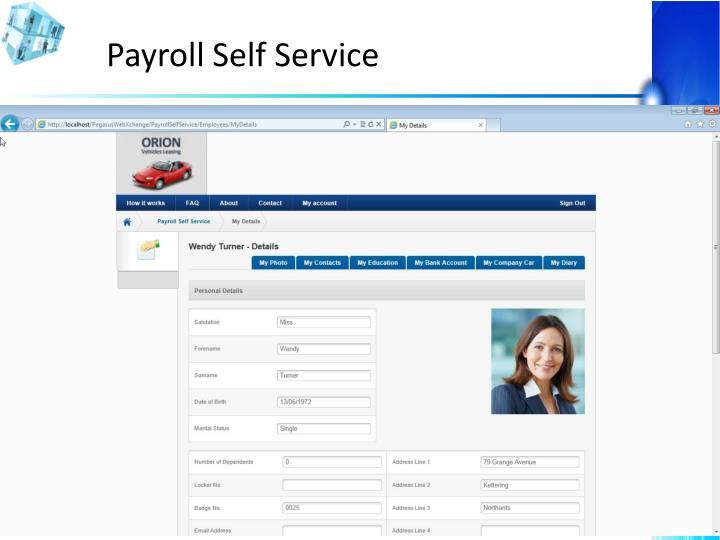 Payroll Self Service