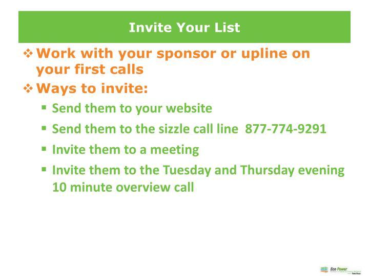 Invite Your List