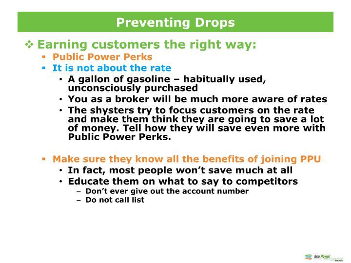 Preventing Drops