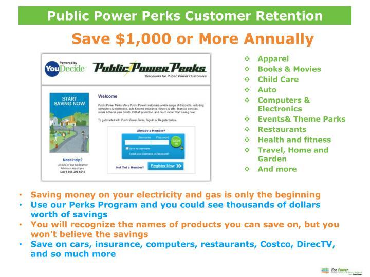 Public Power Perks Customer Retention