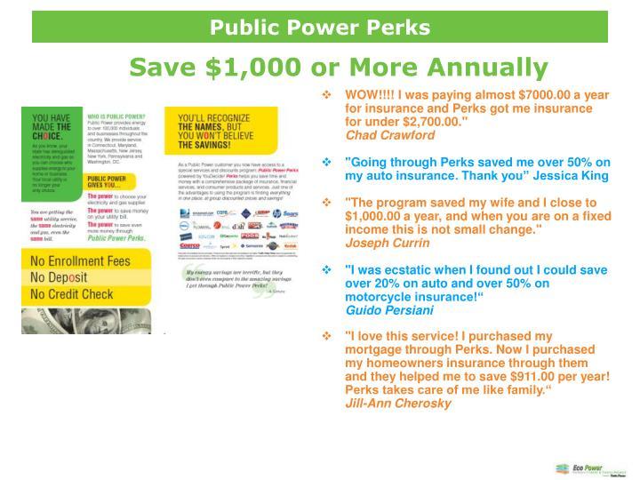Public Power Perks