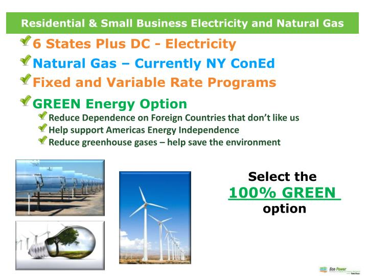 Residential & Small Business Electricity and Natural Gas
