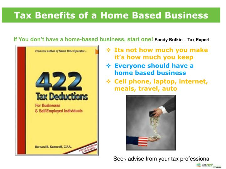 Tax Benefits of a Home Based Business