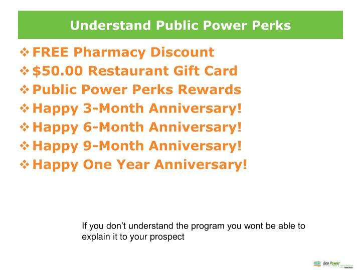 Understand Public Power Perks