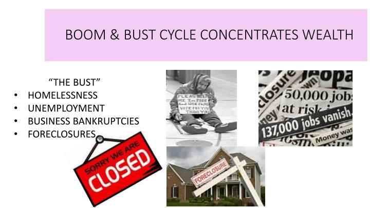 BOOM & BUST CYCLE CONCENTRATES WEALTH