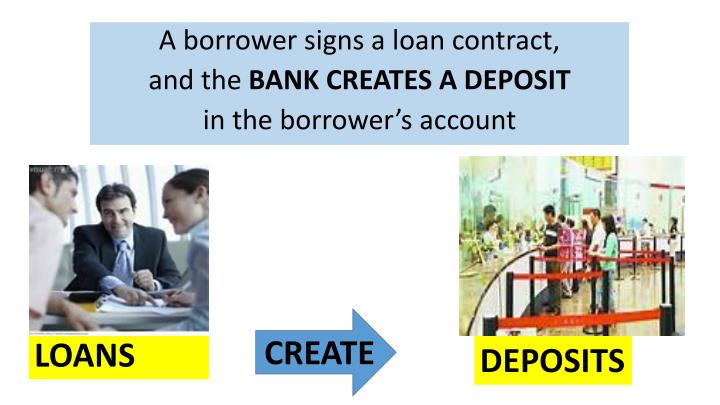 A borrower signs a loan contract,