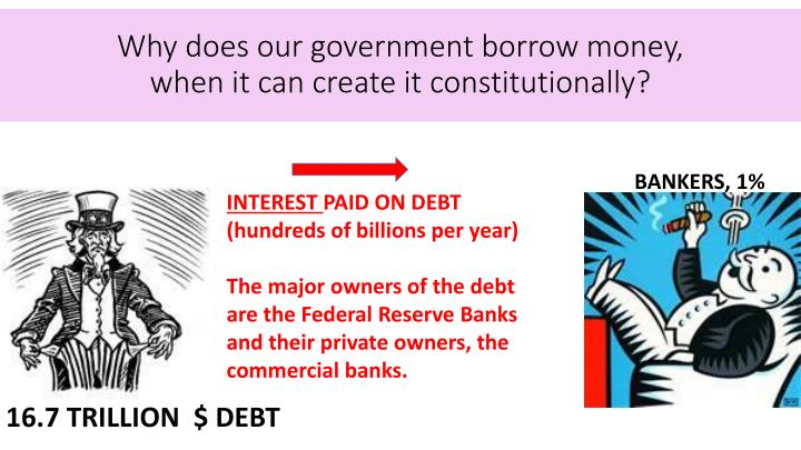 Why does our government borrow money,
