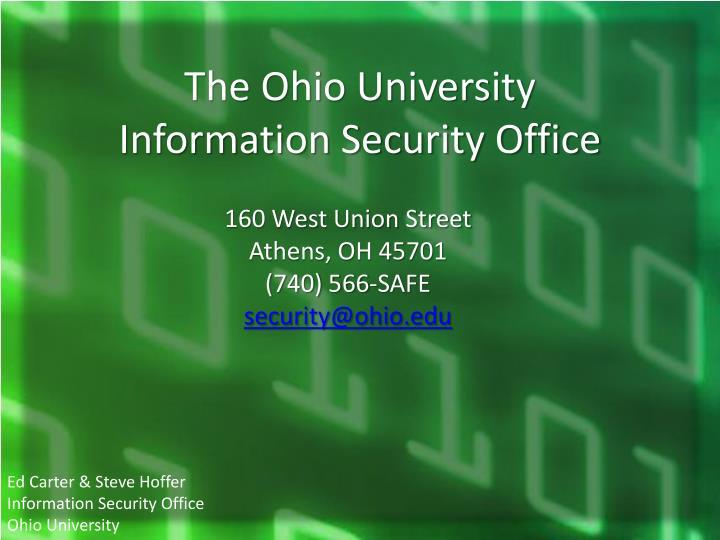 The Ohio University