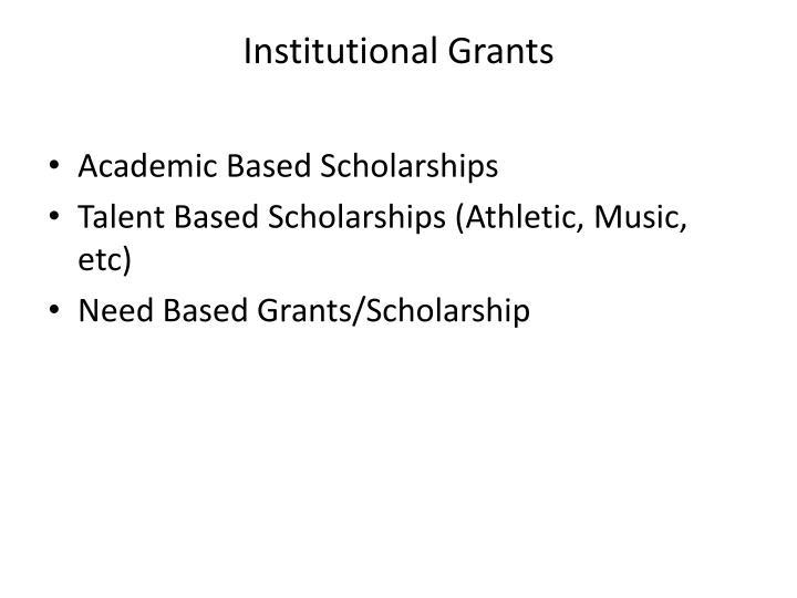 Institutional Grants