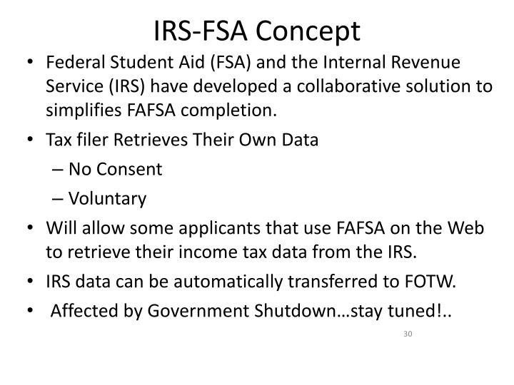 IRS-FSA Concept