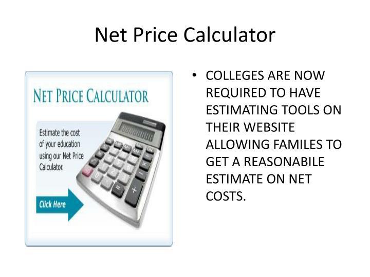 Net Price Calculator