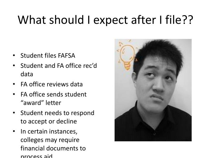 What should I expect after I file??