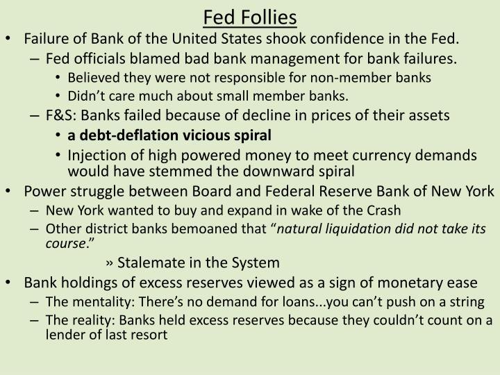 Fed Follies