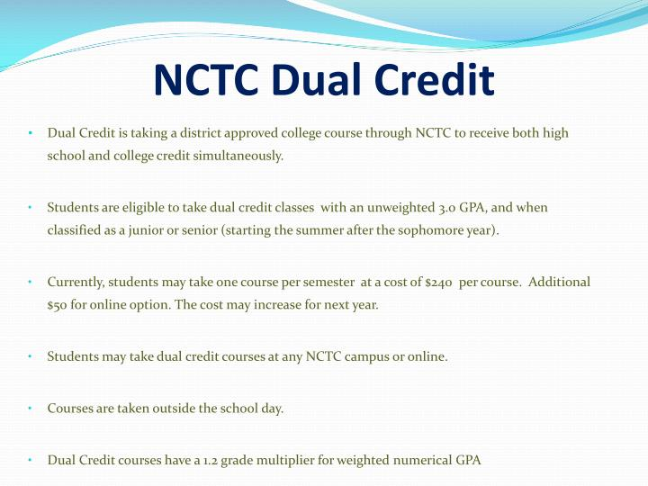 NCTC Dual Credit