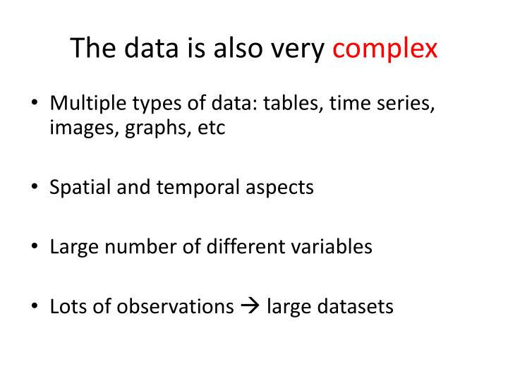 The data is also very