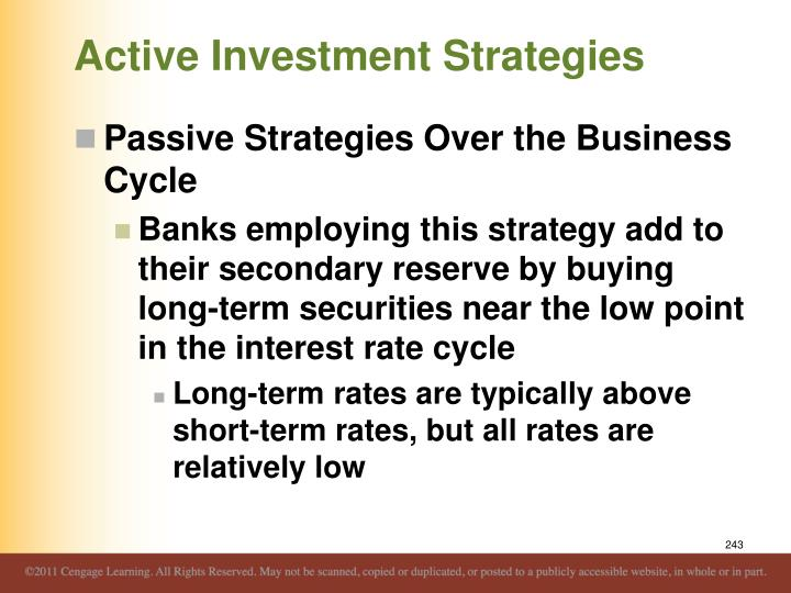 Active Investment Strategies