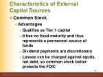 characteristics of external capital sources2