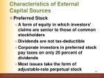 characteristics of external capital sources4