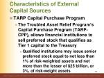 characteristics of external capital sources6