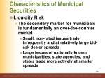characteristics of municipal securities10
