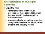 characteristics of municipal securities11