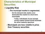 characteristics of municipal securities14