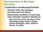 characteristics of municipal securities8