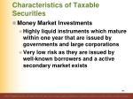 characteristics of taxable securities