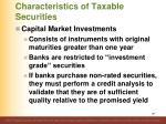 characteristics of taxable securities11