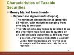 characteristics of taxable securities2