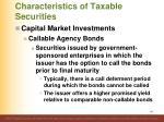 characteristics of taxable securities21