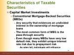 characteristics of taxable securities24