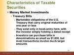 characteristics of taxable securities3