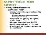 characteristics of taxable securities9