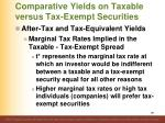 comparative yields on taxable versus tax exempt securities7