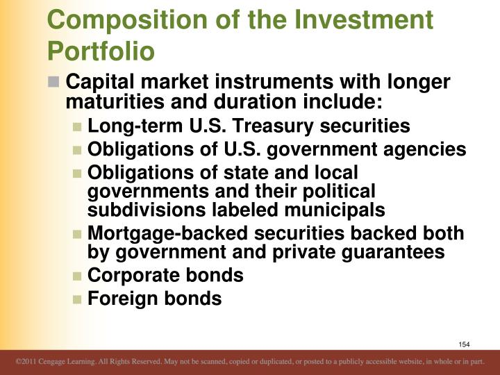 Composition of the Investment Portfolio