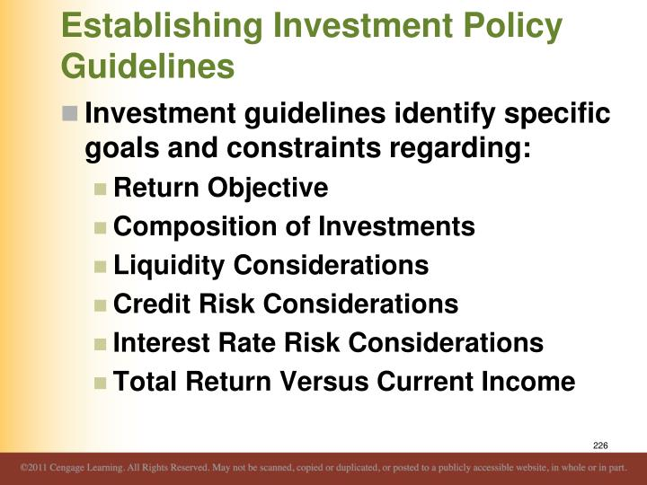 Establishing Investment Policy Guidelines