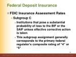 federal deposit insurance10