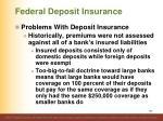 federal deposit insurance17