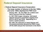 federal deposit insurance3