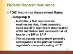 federal deposit insurance9