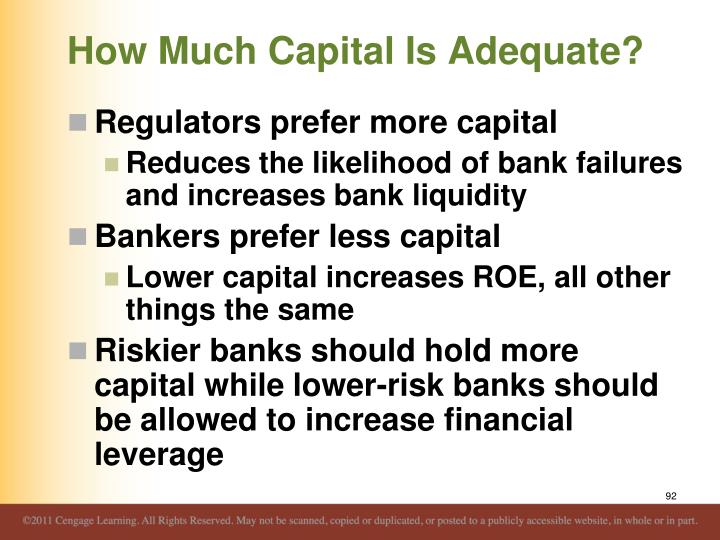 How Much Capital Is Adequate?